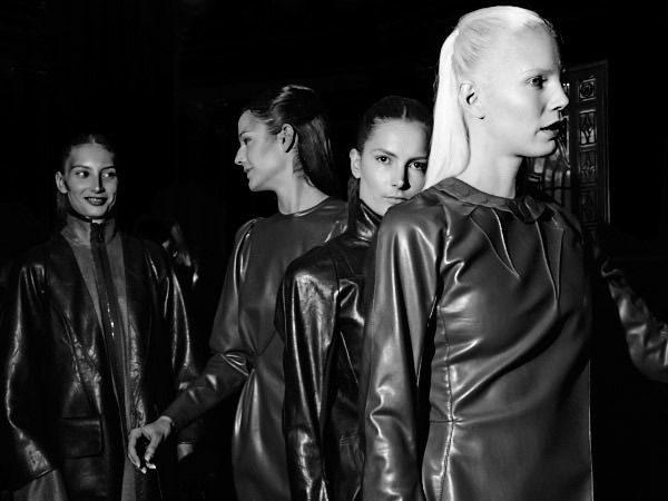 Backstage Bernard Chandran AW14 for Fault Magazine
