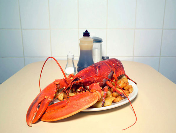 Lobster and Chips. Bardsley's Fried Fish Shop